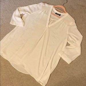 XXL TALL ivory loose top- perfect for Fall!🌾